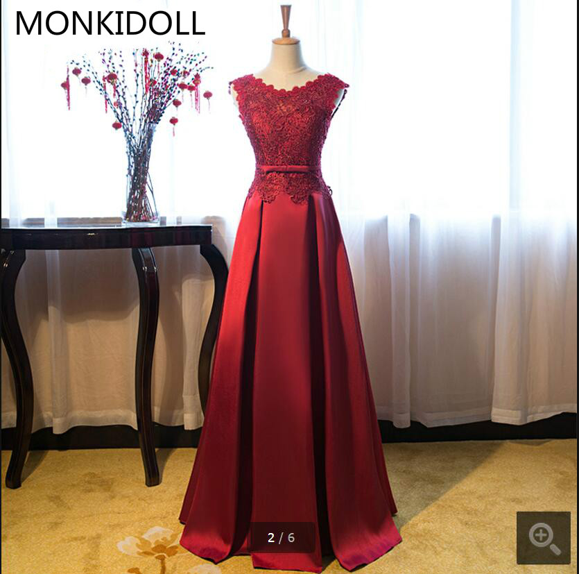 New arrival 2017 burgundy lace   prom     dress   open back sexy beaded crystals sleeveless   prom   gowns sheer corset   prom     dresses