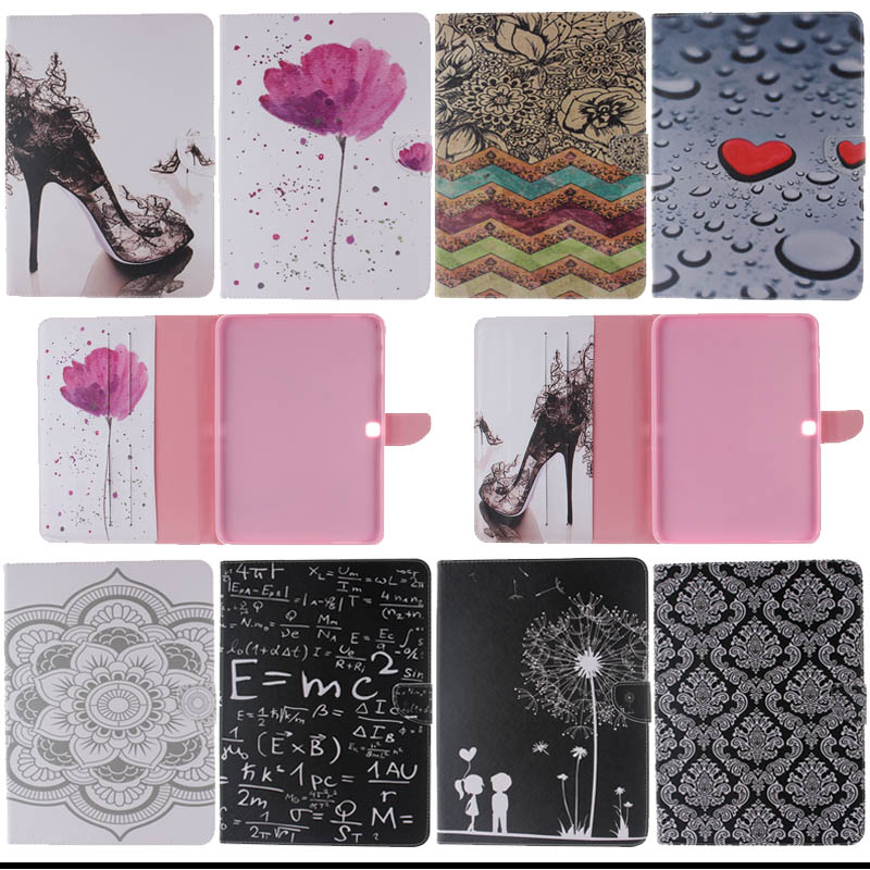 For Samsung Tab 4 10.1 cases Fashion Flip Leather Case cover For Samsung Galaxy Tab 4 10.1 T530 T531 T535 with card slot KF433D new pu leather flip stand wallet cover case spell colour card slot case cover for samsung galaxy tab s2 8 0 t710 t715 t719 cases