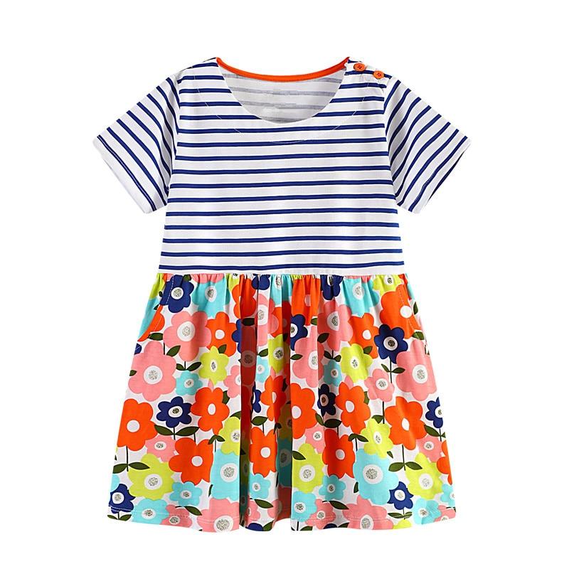VIDMID/летние платья для девочек Одежда для маленьких девочек Детские платья для От 2 до 7 лет девочек животных Цветок Дети хлопок одежда принце... ...