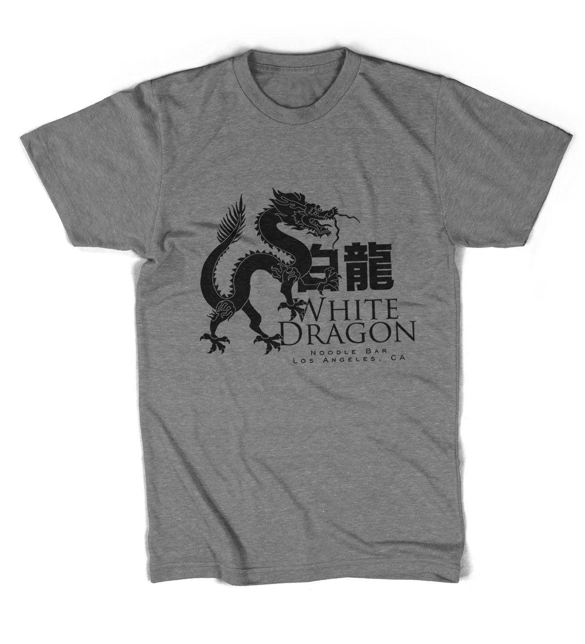 Blanco Dragon Fideo Barra BLADE RUNNER Unisex Camiseta Todas las tallas colores