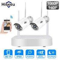 Hiseeu 1080P 960P Wireless CCTV System IP Bullet Camera HD 2MP NVR Recorder Video Security Camera