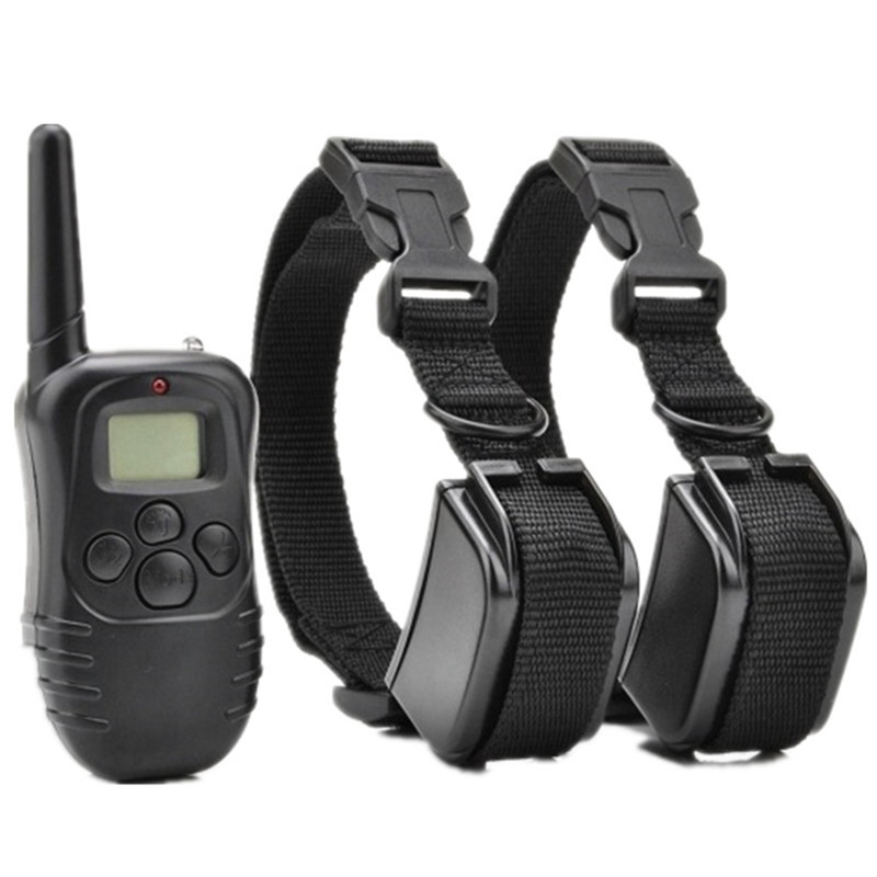 Professhional Dog Training Collar 998DR Rechargeable Remote Electric Shock Anti Bark Waterproof LCD Display font b