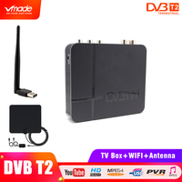 Vmade signal Terrestrial Receiver DVB T2 K2 HDMI V1.3/V1.4 USB 2.0 collocation USB WIFI Dongle & Indoor TVAntenna HB01 TV BOX