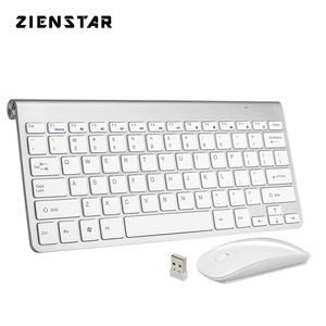 Zienstar Ultra Thin 2.4G Wireless Keyboard Mouse Combo with USB Receiver for Macbook,Computer PC,Laptop ,TV BOX and Smart TV