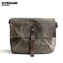 MYBRANDORIGINAL messenger bag men's single shoulder bag high quality wax canvas bag for man casual crossbody bags B81