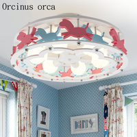 Творческий мультфильм Троянский конь светодиодный потолочный светильник для мальчиков и девочек Спальня принцессы детского комнате глаз