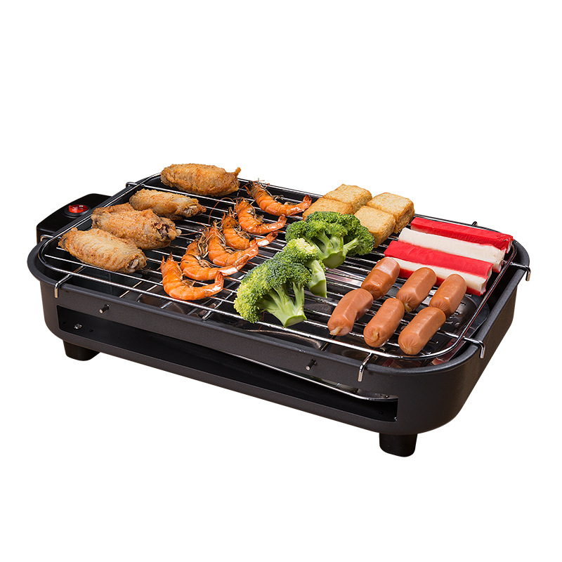 Wholesale Multi-function Electric Grill Household Electric Baking Plate Smokeless Iron Plate BBQ Barbecue Rack Cooking TooWholesale Multi-function Electric Grill Household Electric Baking Plate Smokeless Iron Plate BBQ Barbecue Rack Cooking Too