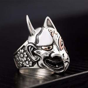 Image 4 - Zabra sólido 925 prata esterlina diabo crânio rosto grandes anéis para motociclista homem dominador steampunk hyperbolic festa gótico jóias