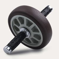 Gym Special Belt Roller Bearing Mute Abdominal Abdominal Wheel Exercise Fitness Equipment Household Grey ZH