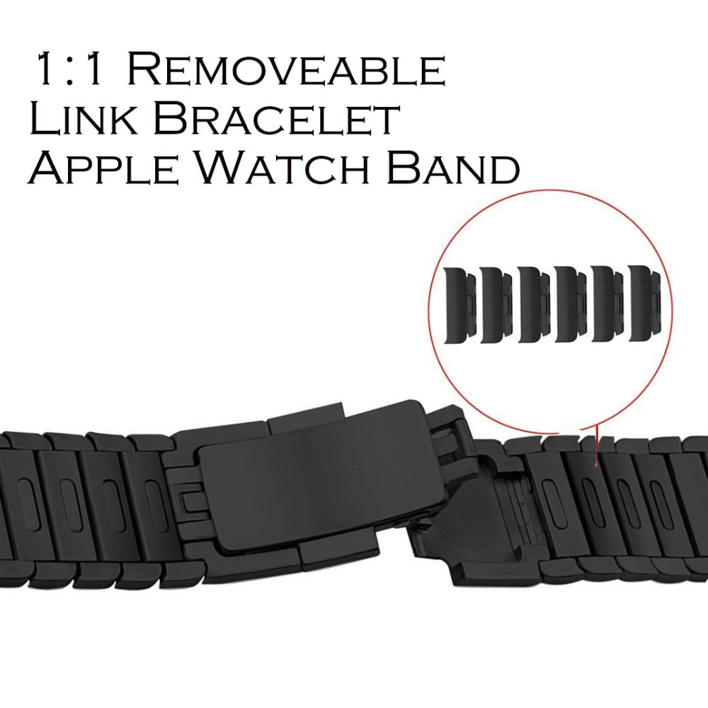 Link bracelet Stainless Steel Watch band for Apple Watch Band series 3 2 1 strap for iWatch adjustable high quality for apple watch link bracelet band strap for iwatch series 3 2 1 42mm 38mm high quality stainless steel watchband