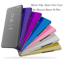 Mirror Flip Case For Huawei Honor 9i Plus 9i+ Luxury Clear View PU Leather Cover For Huawei Honor 9i Plus Smart phone Case защитное стекло для huawei honor 9i