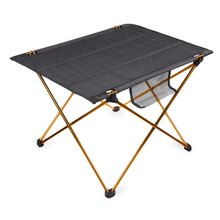 Практические сверхлегкий сплав золотой пикник алюминиевый туризм отдых стол складной открытый