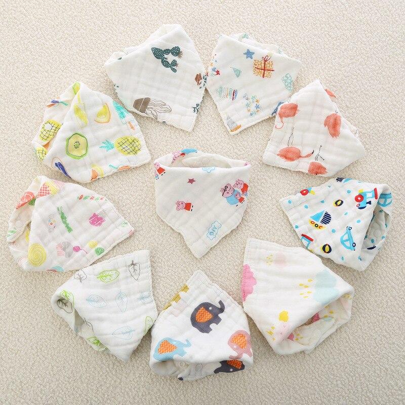 3pcs/set Muslin Cotton Baby Bibs Girls Boys Cloth Babador Bebes  Burp Accessory Infant Stuff Bib