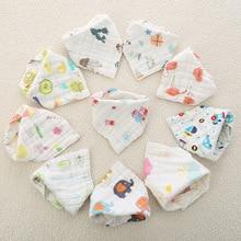 3pcs/set Muslin Cotton Baby Bibs Girls Boys Baby Cloth Babador Bebes  Baby Bibs Burp Cloth  Accessory Infant Baby Stuff Bib недорого