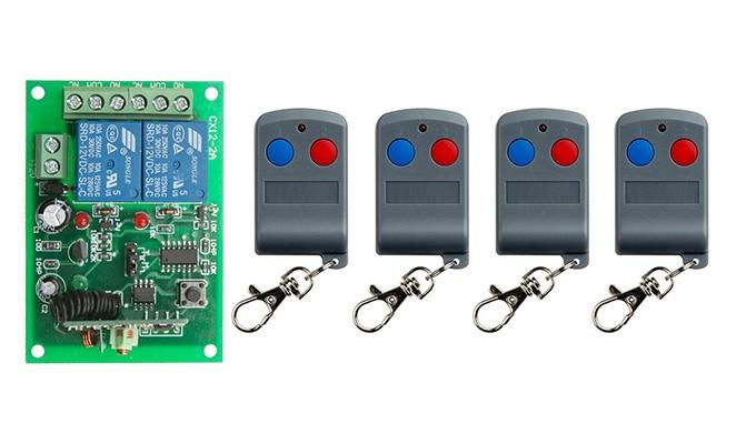 Última DC12V 10A 2CH RF Sistema de Interruptor de Control Remoto Transmisor de 4