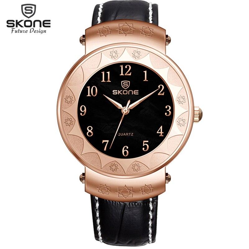 SKONE Wrist Mens Watches Top Brand Luxury Famous Male Clock Quartz Watch Golden Wristwatch Quartz watch Relogio Masculino 2017 skone relogio 9385