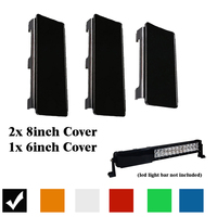 22 Inch Dust Proof Protective Lens Covers Black Amber Green Clear Red Green For LED Light