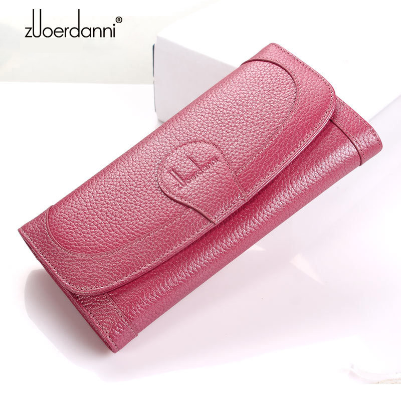 TOGO Genuine Leather Women Wallet And Purse Female Long Credit Card Holder Coin Purses Solid Long Wallets Tassels Candy Color