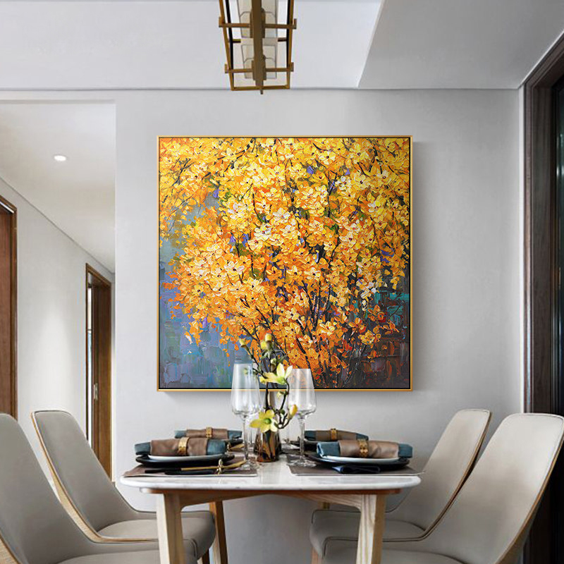 100% Hand Painted Flowers Trees Art Oil Painting On Canvas Wall Art Wall Adornment Pictures Painting For Living Room Home Decor100% Hand Painted Flowers Trees Art Oil Painting On Canvas Wall Art Wall Adornment Pictures Painting For Living Room Home Decor