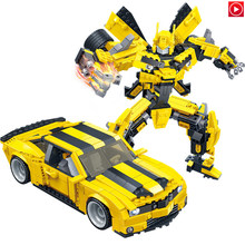 Legoed Movie LepinS New Style Legoings 2 In 1 Transformation Robot Vehicle Sport car DIY Building Blocks Brick Kit Toy Kids Gift(China)