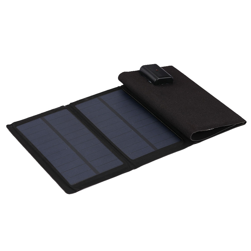 Gizcam 7W 5V Folding USB Solar Phone Charger Pane Waterproof Solar Panel Portable Quadruple Fast Solar Panel