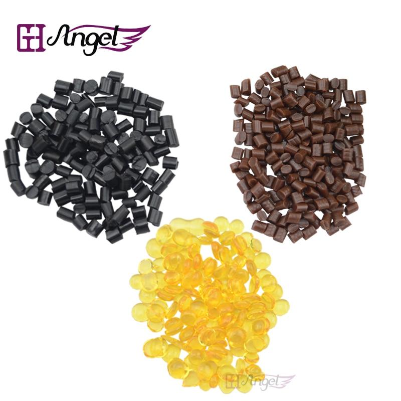 100gram Hot Melt Glue Granules/Beads/Grain Keratin Glue For Pre-Bonded Human Hair Extensions Fusion Hair Tools 4 Colors Optional