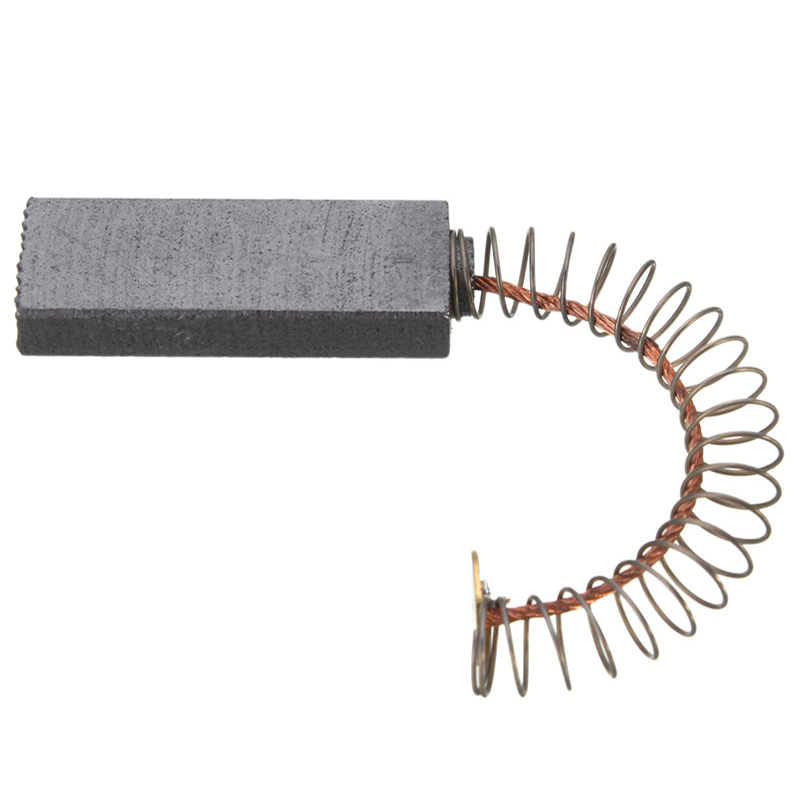 6pcs Electric Drill Motor Carbon Brushes For Generator Rotating Machinery Fixing Brushes With Spring Spare Parts