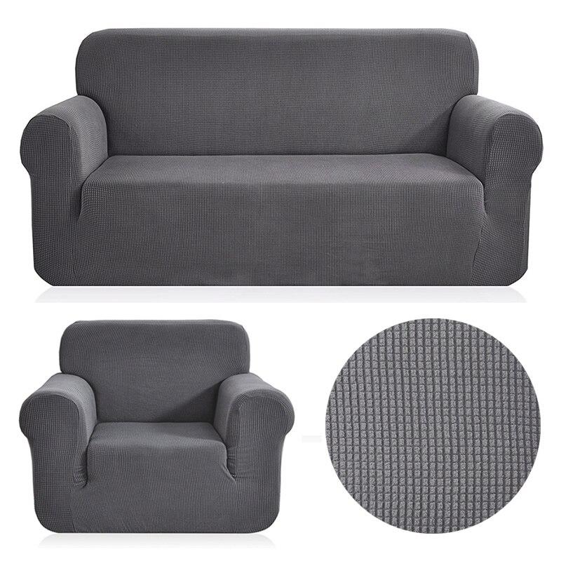 Флис ткань Универсальный диван крышку растянуть узор в клетку sofacovers моющиеся съемные диване охватывает чехлов loveseat