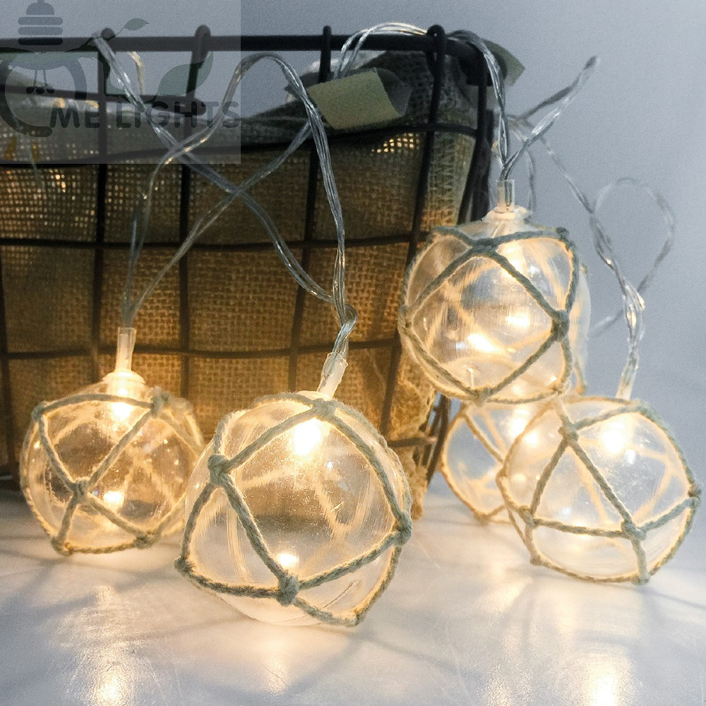 20 pcs Rope Clear Globe Fairy String Lights Battery Operate Garlands for Christmas Holiday Wedding Indoor Decoration
