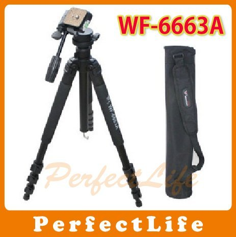 Camera Tripod Fancier FT-6663A with 3-way head Bag FT-6663A Photographic tool 4pcs/lot A011AB019