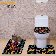 black padded toilet seat. HUGSIDEA Black Printing Butterfly Toilet Seat Cover Soft Buy black padded toilet seat and get free shipping on AliExpress com