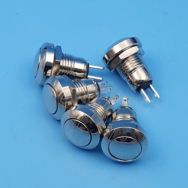 5 Teile/satz Mini 8mm Metall Momentary 1NO 2Pin Druckschalter AC 250 V -- M25