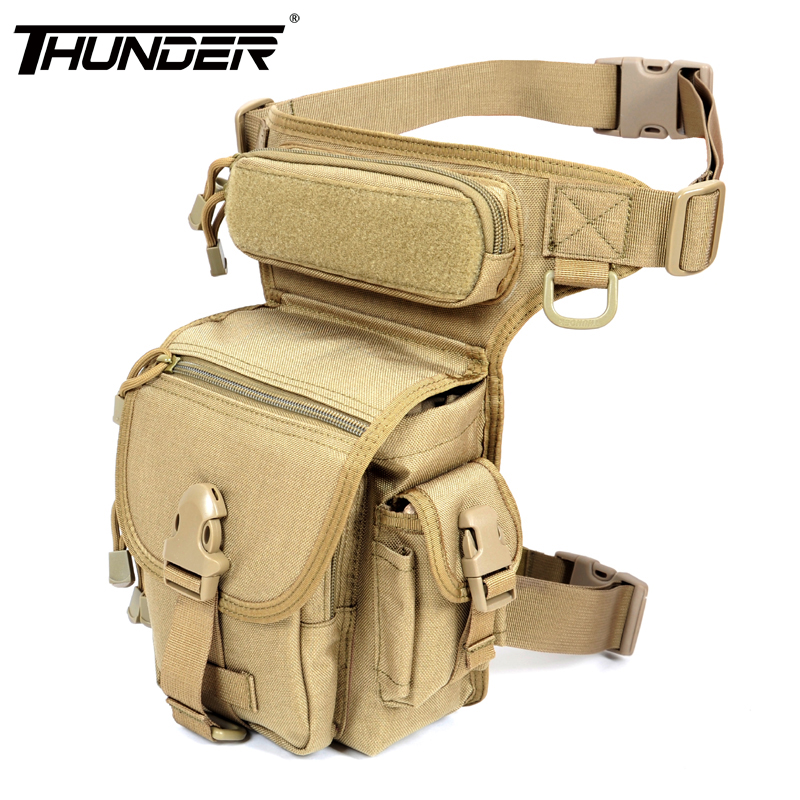 Military Tactical Leg Bags Outdoor Army SWAT Motorcycle Ride Work Tool Bag Electrical Package Waist Pack 1000D nylon fabric - RAINBOW OUTDOOR store