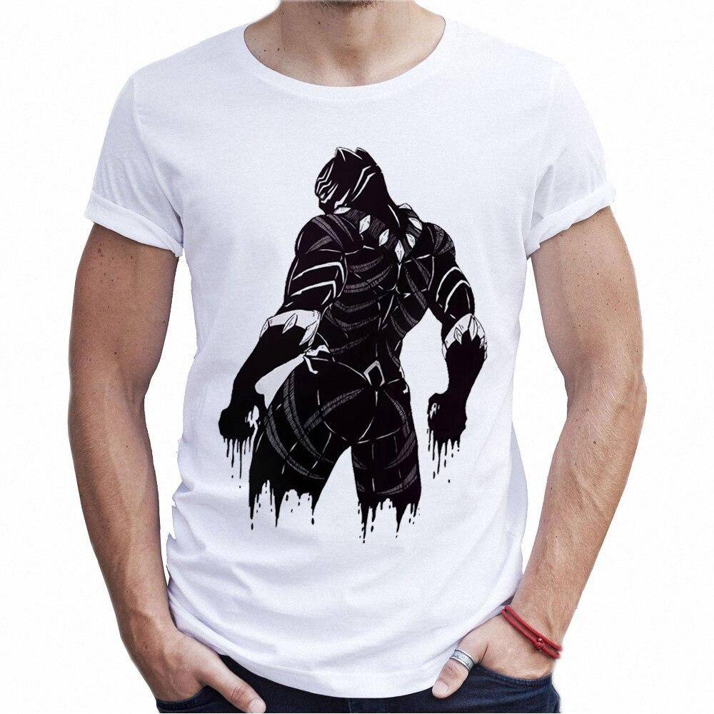 Fashion Brand Streetwear Male T Shirts Black Panther Harajuku Men Tendencies Tshirt Stop Smoking Hitam Xxl Superhero Shirt Punk Graphic Tees Mens Designer In From Clothing