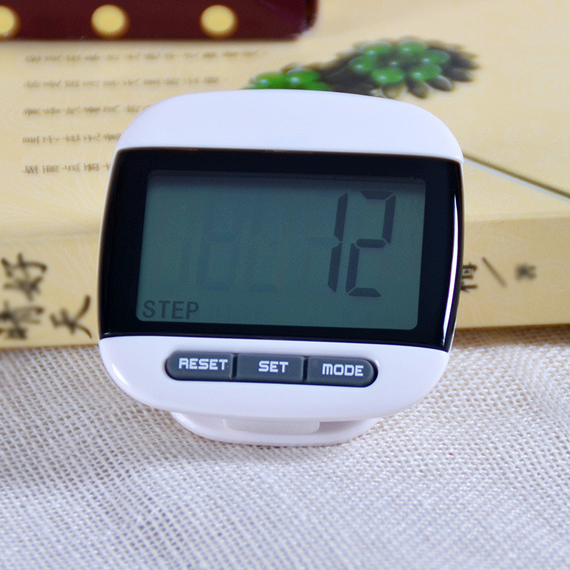 1 pcs White Mini LCD Pedometer Calorie Walking Distance font b Calculation b font Digital Counter