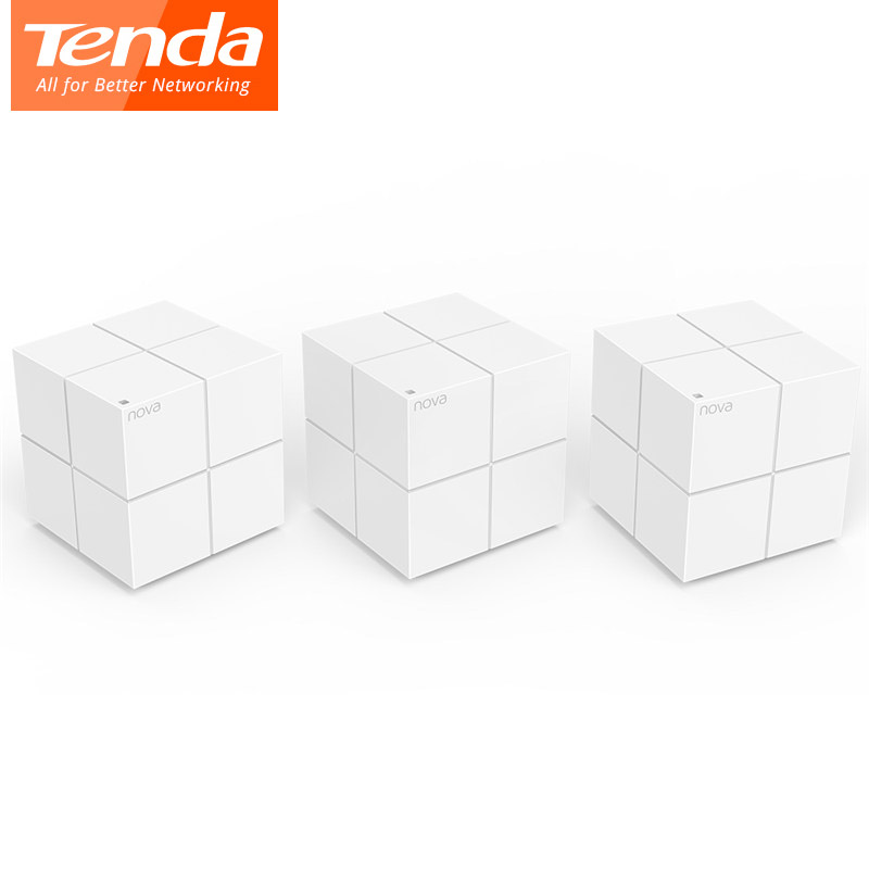 Tenda Nova MW6 Wireless WiFi Gigabit Router Whole Home Mesh WiFi System with 11AC 2.4G/5.0GHz WI-FI Repeater, APP Remote Manage admin manage