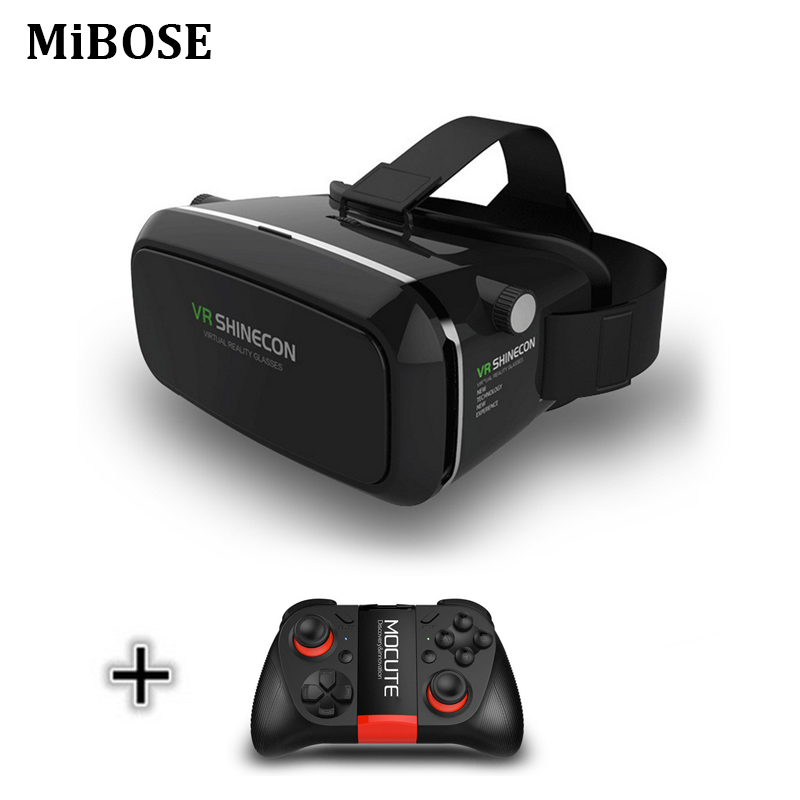 MiBose VR glasses 3d Virtual Reality goggles google cardboard 3d vr headset  for 4.0-6.0 inch smartphones VR Box Helmet Movies
