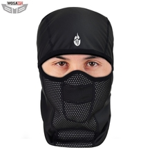 WOSAWE Motorcycles Bandana PU Waterproof Thermal Warm Up MOTO Balaclava Motocross Motorbike Face Mask Neck Scarf Caps
