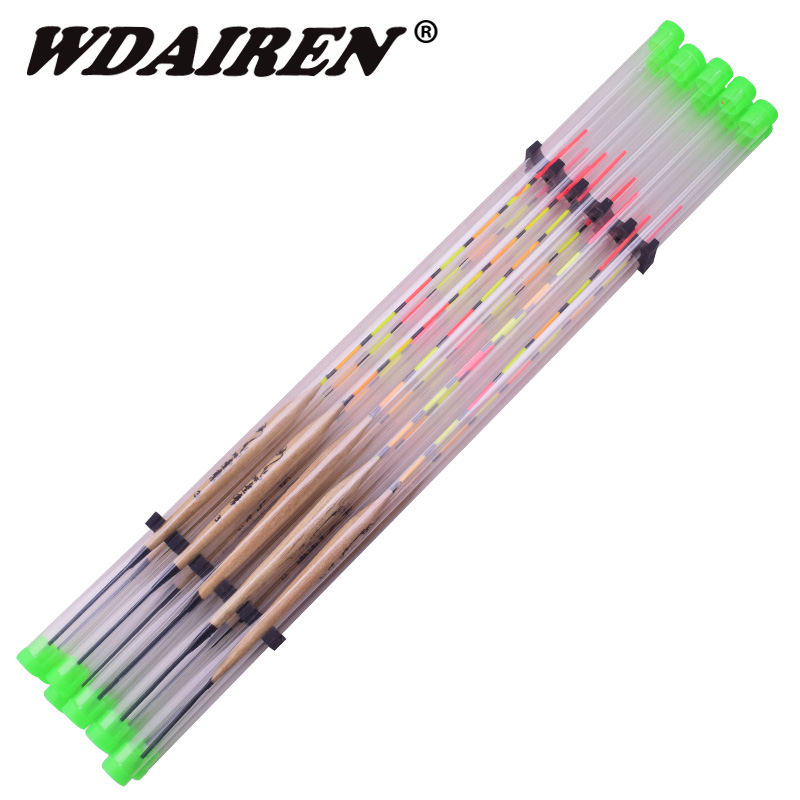 10Pcs/lot Fishing Floats Balsa Flotteur Peche Shallow Water & Ice Floating Bobbers Wooden Float For Fishing Accessories Tackle