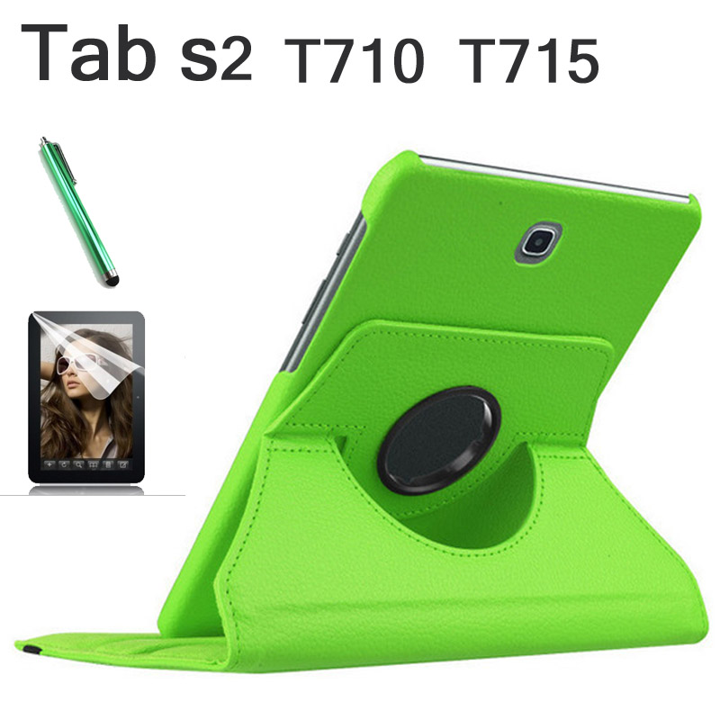 For Samsung Galaxy Tab S2 8.0 T710 T715 Tablet case 360 Rotation PU Leather cover Black, intelligent, magnet case +tylus+film 360 rotation pu leather cover case for samsung galaxy tab s2 9 7 t810 t815 flip cases with stand function tablet case tylus film