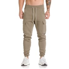 2019 Design Men Casual Sports Running Pants Personality Side Pockets Sweatpants Gym Jogging