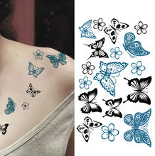 1pc Temporary Tattoo Sticker Waterproof Exquisite Butterfly Body Sternum Fake Tattoo Stickers Tatoo Tatuajes Temporales #SY(China)