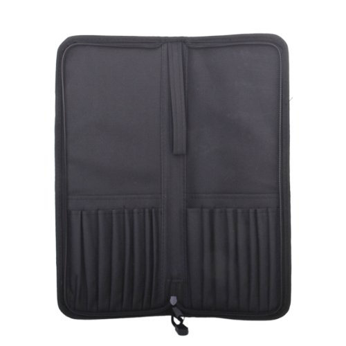 Ugodna zložljiva torbica ščetk umetniške oksfordske tkanine z zadrgo - črna
