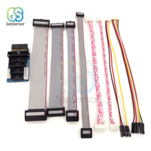 8Pcs 4P 6P 10P 20P Gray Flat Ribbon Data Cable For J-Link ARM Adapter Board 2.54mm 2.00mm Lenght 20cm XH2.54 to DuPont Line