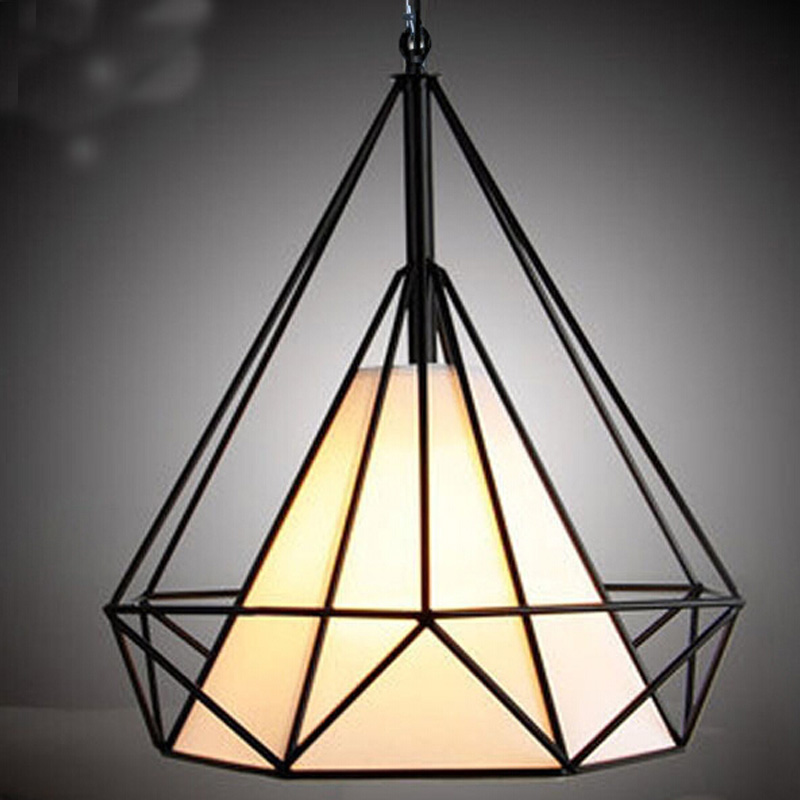 Free shipping simple European style tieyi pendant light vintage lamp American retro diamond cage 2012 hot sell lighting tieyi gourd pendant light modern fashion tieyi mdp100601 18a free shipping