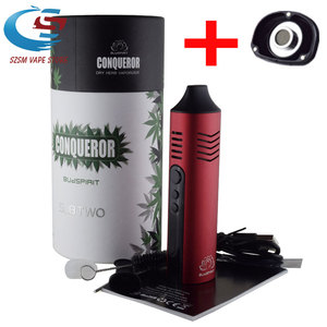 Oryginalny Conqueror parownik do suchych ziół 2200mah bateria do waporyzatora parownik ziołowy e papieros Vaper box mod zestaw do e-papierosa