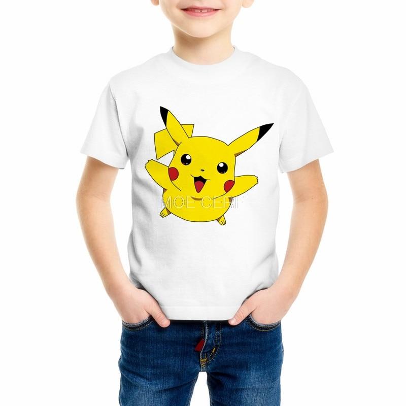 3D Printing Boys/Girl T Shirt Pokemon Clothes Kids Short sleeve T-Shirts Children's Cartoon T-shirt Top brands C20-25 mens casual 3d personality skull printing short sleeve t shirt cotton sport black tees