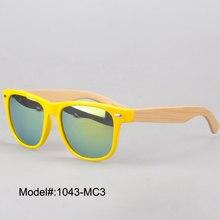 1043 летний новый мужской стиль пластиковые очки с пружинным шарниром бамбука храм навес UVA UVB