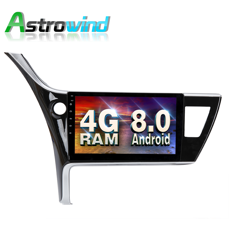 Android 8,0 Системы 4 г Оперативная память автомобильный DVD gps навигации Системы стерео Media Player Радио для Toyota Corolla 2017