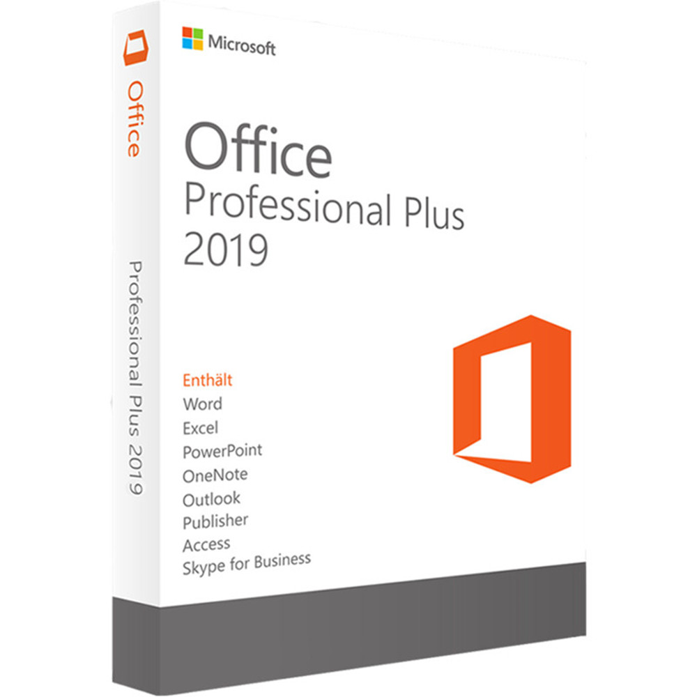 Microsoft Office Professional Plus 2019 For Windows 10 License Software 1 Product Key Retail Boxed DVD Version | 1 User/1 Device(China)